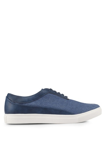 JAXON blue Mixed Materials Linen Sneakers 45B8DSH3C026CCGS_1