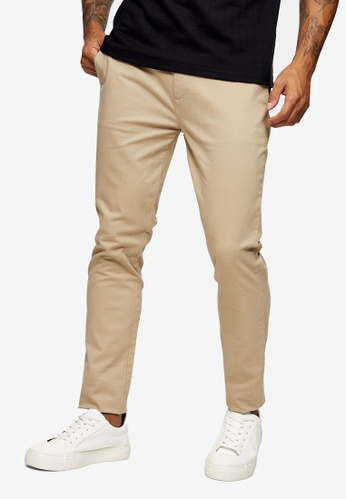 Topman multi Organic Stone Skinny Chino Pants 74F80AA485BDF2GS_1