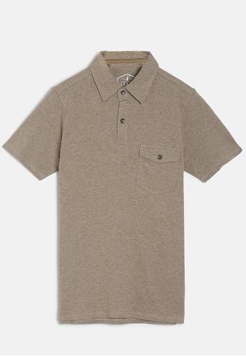 ZALZA beige Mike 100% Organic Cotton Boys Polo Tee - Oatmeal 8B1FAKA2DEB08EGS_1