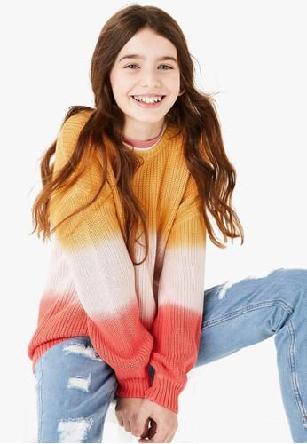 MARKS & SPENCER orange Cotton Ombre Knitted Jumper 32268KAEC8EFE1GS_1