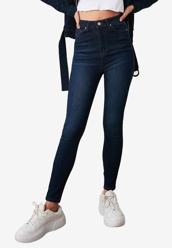 Trendyol blue Light Washed High Waist Skinny Jeans F27F9AAB592ED8GS_1