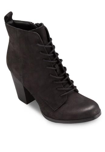 Neily 側esprit官網拉鍊繫帶高跟筒靴, 女鞋, 鞋