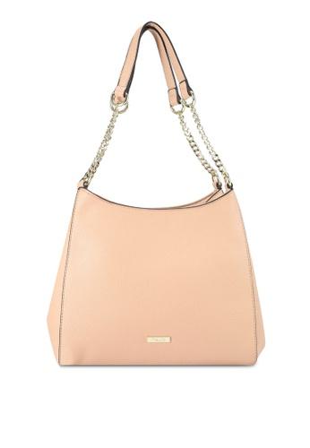 Mel&Co beige Faux Leather Double Handle Bag 685A1ACAC1D161GS_1