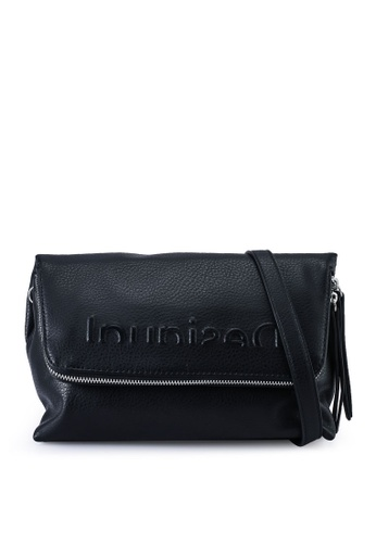 Desigual black Logo Embossed Crossbody Bag 7EE19AC7A5DF00GS_1