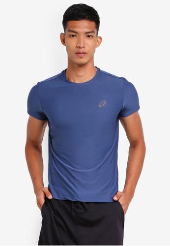 Asics 藍色 短袖運動上衣 AS989AA0SVQLMY_1