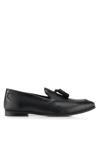 KG Kurt Geiger black Moleman Black Leather Shoes KG303SH0SCM6MY_1