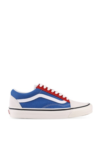 VANS white and red and blue Old Skool 36 DX Anaheim Factory Sneakers D0712SH798BF2AGS_1
