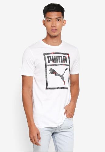 Puma white Prime Logo Tee PU549AA0SWIKMY_1