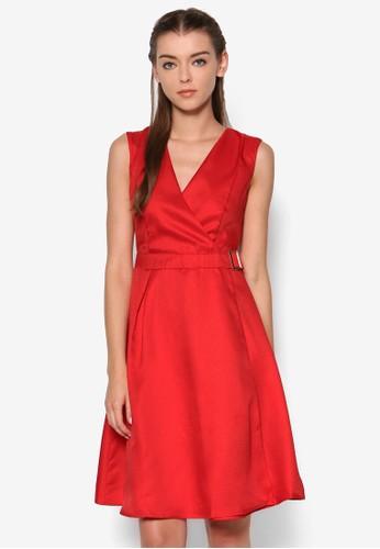 Kimmie 京站 esprit裹飾腰帶洋裝, 服飾, 簡約優雅風格