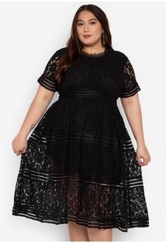 634f2e274f7a3 Get Laud Plus black Plus Size Xenima Mini Dress 9C720AA1E2AC2CGS 1