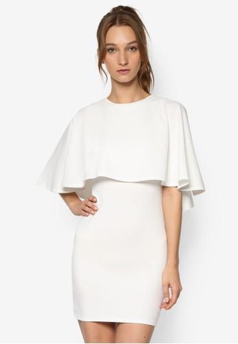 荷葉層次鏤空貼身連身裙, 服飾, esprit服飾洋裝