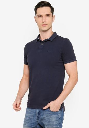 SUPERDRY 海軍藍色 Organic Cotton Vintage Destroyed Polo Shirt - Original & Vintage 0FAECAABFB4D1DGS_1