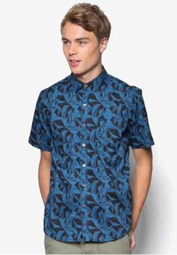 esprit 高雄Signature 休閒短袖襯衫, 服飾, 印花襯衫