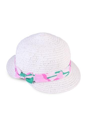 Du Pareil Au Même (DPAM) white Floral Ribbon Hat 70FCEKC191A24BGS_1