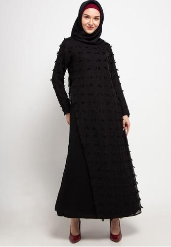 AZZAR black Jane Maxi Dress in Black 57318AA5CB4787GS_1