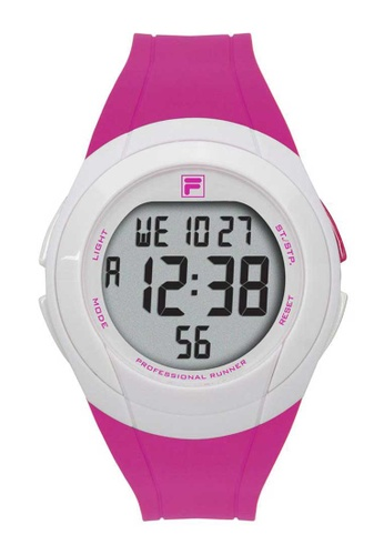 FILA Watches pink Fila Digital White and Pink Rubber Watch AF02AAC5E4C549GS_1
