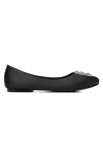 My Ballerine 黑色 My Ballerine - Elegant Satin Comfort Ballerina (Black) 8F76ESH0B41C93GS_1