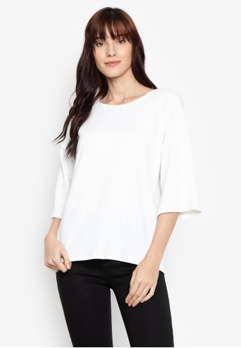 MEMO white Relaxed Fit Tee 73A36AA29C7E8DGS_1
