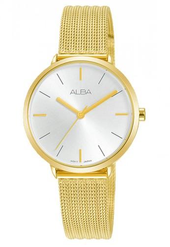 Alba gold Jam Tangan Wanita Alba Original Garansi Resmi AH8710 AH8710X1 Strap Stainless Steel Gold Mesh Bracelet 6AD1BAC594B0ECGS_1
