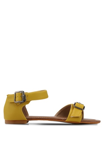 Mimosa yellow Textured Sandals F148CSH98F5F1CGS_1