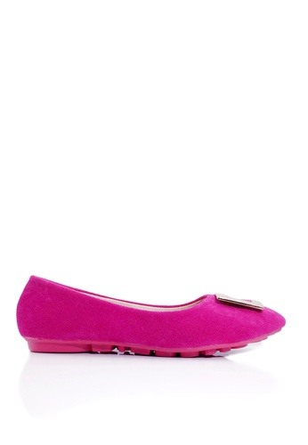 Twenty Eight Shoes pink Square Buckles Ballerinas VL1322 5904ASH0FFC5B9GS_1