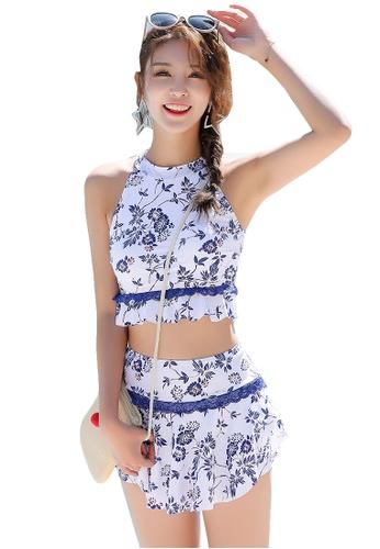 YG Fitness white (2pcs) Fashion Print Swimsuit Set 6B6DEUSAFA5830GS_1