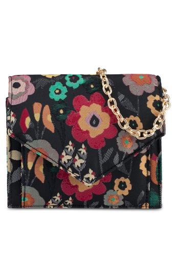 Zalia black Small Jaquard Sling Bag 35825ACF5F30EAGS_1
