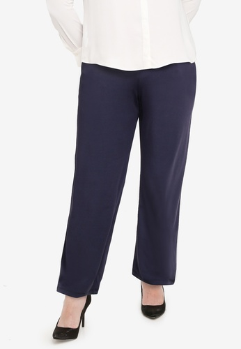 Ex'otico grey Plus Size Knitted Long Pants DF517AAE43A3F1GS_1
