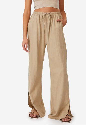 Cotton On beige Getaway Pull On Pants D0CA9AA1BDE6B8GS_1
