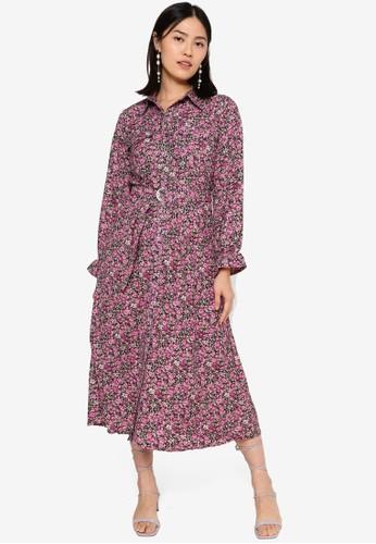 ONLY black Dora Long Sleeve Shirt Dress A3D29AAF628CD8GS_1