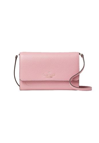 Kate Spade pink Kate Spade Harlow Wallet On A String WLR00081 Bright Carnation 42533AC93BD22FGS_1