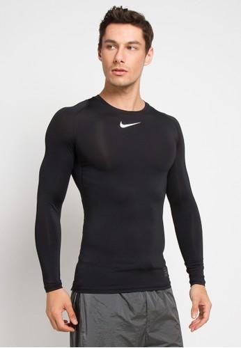 Nike black and multi As M Nike Pro Top Ls Comp E573CAA6F181DAGS_1