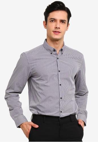 Burton Menswear London 紅色 Tailored Fit 格紋襯衫 DD5CAAA0CBB38DGS_1