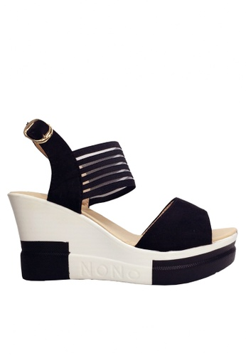 Twenty Eight Shoes black See Through Rubber Band Wedge Sandals VS316 3685ASHC5A1315GS_1