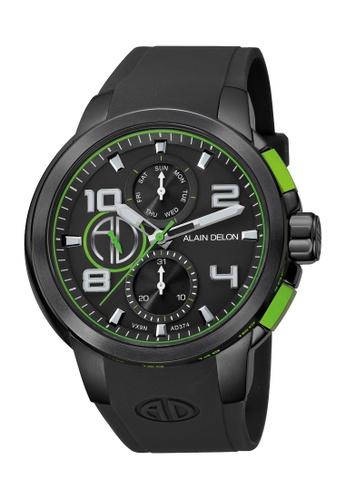Alain Delon black Alain Delon Men AD374-1795C Black Silicone Watch 9E7C9AC105430EGS_1