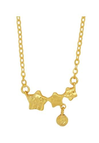 LITZ gold LITZ 916 (22K) Gold Starry Night Necklace 30D96AC4A7AA13GS_1