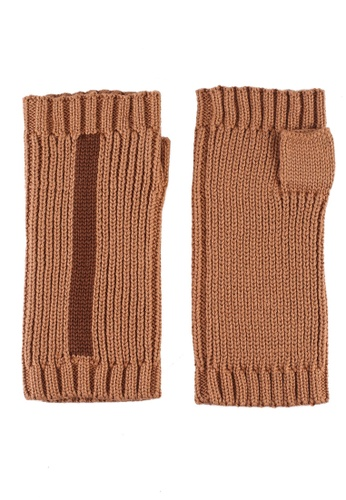 niko and ... brown Knit Gloves 309ECACD7271A9GS_1
