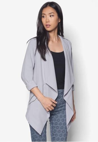 垂墜翻領開襟外套, 服飾, 夾克 &azalora 心得 pttmp; 大衣