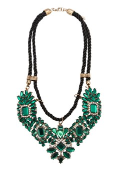 Faux Emerald Flower Rope Necklace. Get your Faux Emerald Flower Rope Necklace at Zalora...