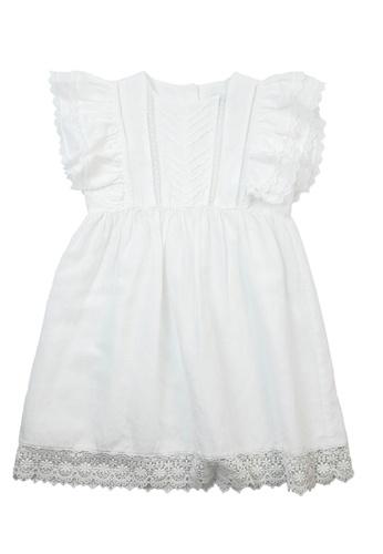Vauva white Vauva White Frilling Sleeves One Piece Dress w/ Fantasy Forest Hair Elastic 15180KAD67DE18GS_1