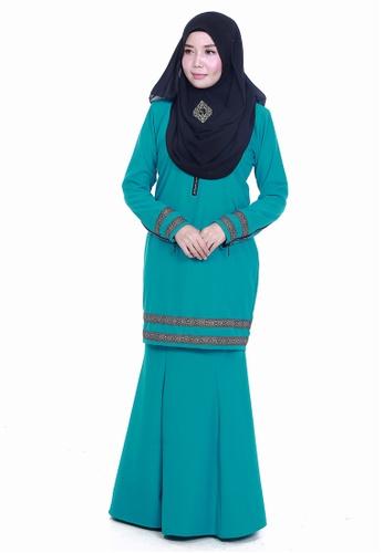 Farosa Kurung Cassandra Turqoise from Farosa in Green and Blue