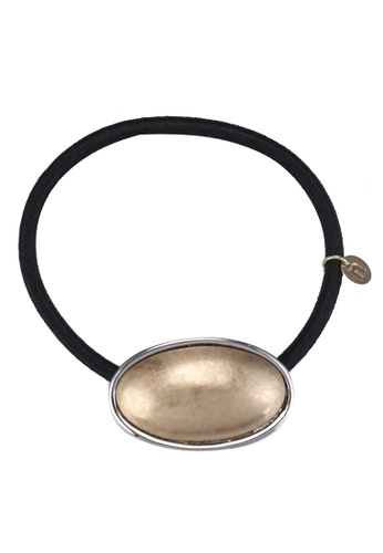 niko and ... gold Oval Charm Hair Tie A23A5AC6008D36GS_1