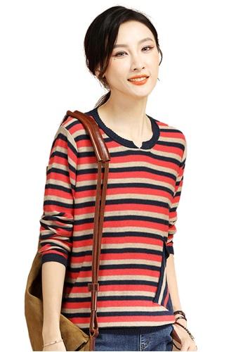 A-IN GIRLS multi Fashion Striped Sweater 9C03FAAC4716D7GS_1