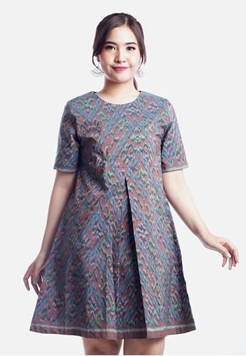 AlmiRangga blue Hiromi Dress E7D10AA06731D9GS_1