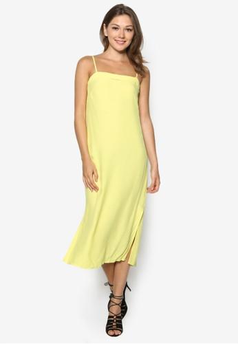 90s 側開衩細肩帶洋裝, zalora 衣服尺寸服飾, 服飾