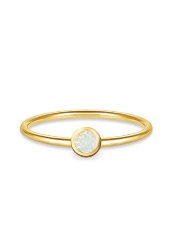 Aquae Jewels yellow Ring My BirthStone Opal – October, 18K Gold - Yellow Gold 0C240AC7BC5448GS_1