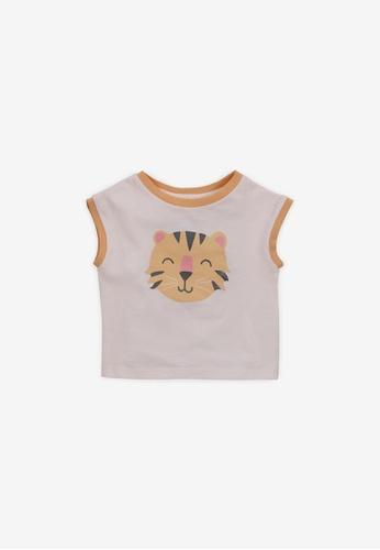 Gingersnaps pink Baby Girls Tiger Print T-Shirt 4DE37KA5DE40E3GS_1