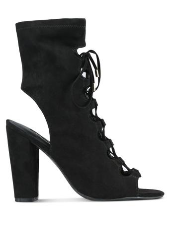Guess black Lace Up High Cut Heels GU020SH0S7KZMY_1