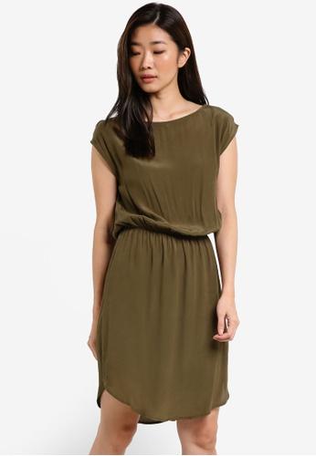 ZALORA green Blouson Woven Dress 1BEFAAAC08006BGS_1