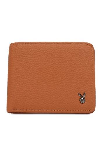 Playboy brown Genuine Leather Rfid Short Wallet 6A9ADAC13CFAB0GS_1